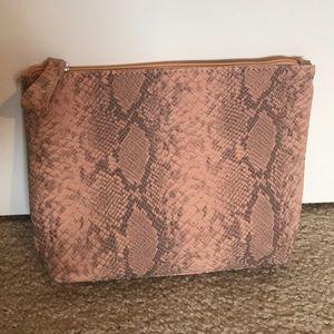 Other - Matte snakeskin print cosmetic makeup bag!